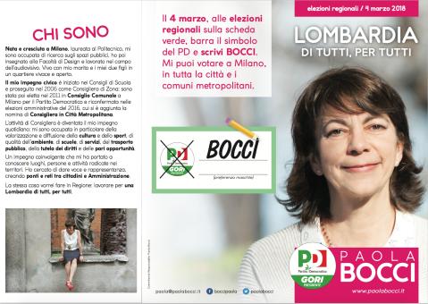 Paola Bocci - Regionali 2018